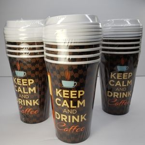 Keep Calm And Drink Coffee Drink Hot Cold Cups
